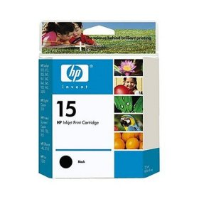 HP Genuine 15 Ink Cartridge Black (600 Pages)