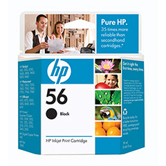 HP Genuine 56 Ink Cartridge Black (520 Pages)
