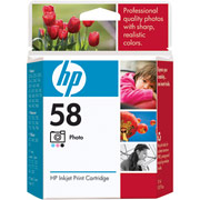HP Genuine 58 Ink Cartridge Photo